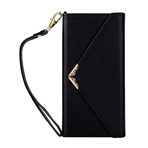 Samsung Galaxy S9 Plus Wallet Case, XRPow S9 Plus Envelope Flip Handbag Wallet Case PU Leather with Card Slot + Side Pocket Magnetic Closure for Galaxy S9 Plus 2018 Release Black