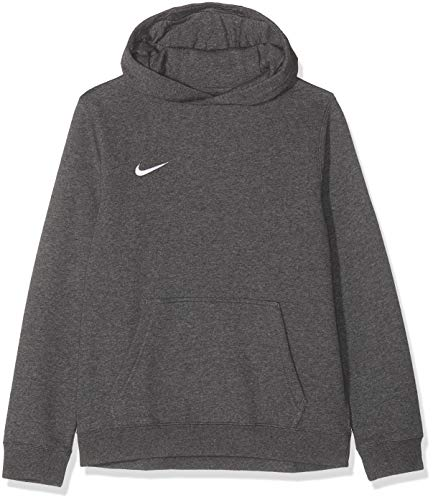 Nike - Team Club 19 Crew - Sweat à capuche - Mixte Enfant - Gris (Charcoal Heather/Anthracite/White/White 071) - Taille: M