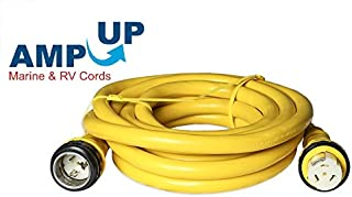 Amp Up Marine & RV Cords 125/250v 50 amp x 50' Marine Shore Power Boat Extension Cord, 50 ft
