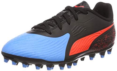 Puma One 19.4 MG Jr, Zapatillas de Fútbol Unisex Adulto, Azul (Bleu Azur-Red Blast Black), 38 EU