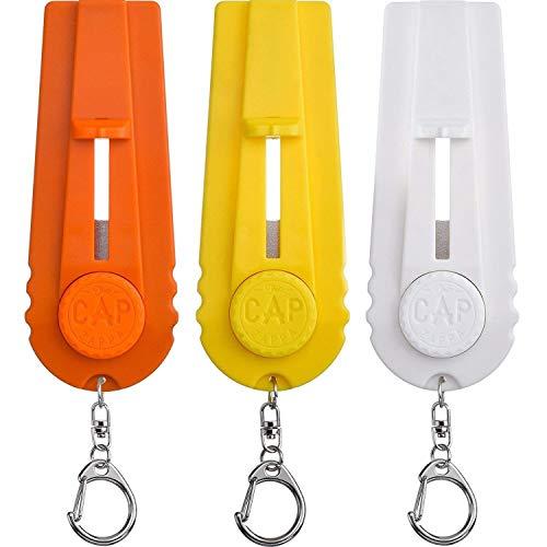 Aboat 3pièces Cap Launcher Lanceur de bouchon de bouteille de bière Opener avec porte-clés, Orange, Jaune et Blanc