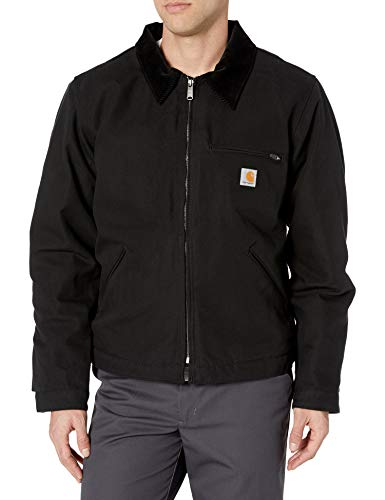 Carhartt Men's Duck Detroit Jacket (Regular and Big & Tall Sizes), Black, X-Large