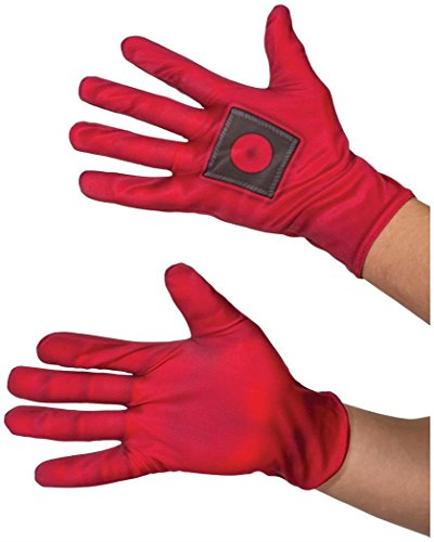Rubie's mens Deadpool Gloves Costume Accessory, Red, One Size US