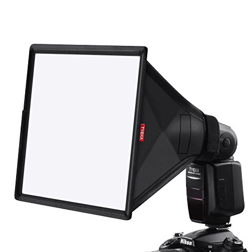 TYCKA 33 x 20cm Difusor de Flash Softbox (Universal, Plegable) para Nikon, Canon, Sony, yongnuo y Otros Flashes DSLR
