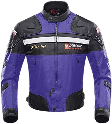 BORLENI Motorradjacke Herren Motorrad Jacke Wasserdicht Winddicht mit Protektoren Protektoren Jacke Roller Biker Touren Damen Schwarz XL