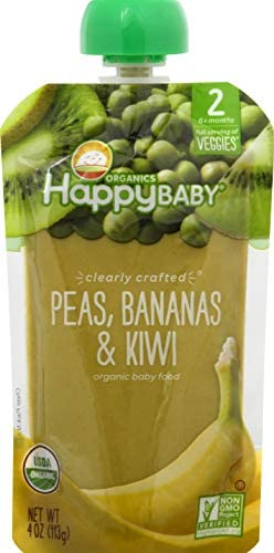 HAPPY BABY Clearly Crafted Veggies Peas Bananas Kiwi Baby Food 4 OZ product image