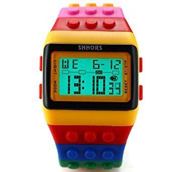 Zantec Silikon SHHORS LED, Regenbogen, Kreativ, Armbanduhr, LCD, sportlich, große Armband–Herren Damen und Kinder–LED091