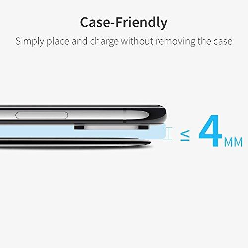 ESR Wireless Charger Ladepad, 10W/7.5W Kabelloses Ladegerät kompatibel mit iPhone 12/12 Pro/12 Pro Max/12 Mini/SE 2020/11/XS/XR/X/8,Samsung Galaxy S21/S20/S10/S9/S8 usw (Schwarz)
