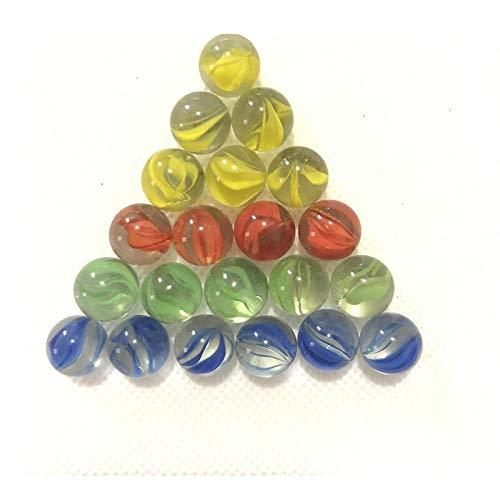 Kleur kralen, 14 mm glazen bollen, kleur aquarium decoratie-100 stuks