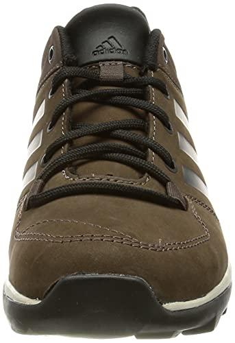 Adidas Daroga Plus Lea, Zapatillas de Senderismo Hombre, Marrón Negro, 47 1/3 EU