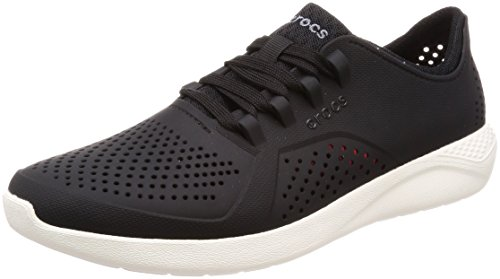 Crocs Men's LiteRide Pacer Sneaker, Black/White, 10 M US
