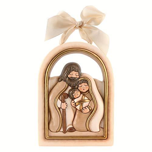 THUN ® - Formella Grande Sacra Famiglia - Ceramica - 21 X 29 Cm - Linea I Classici