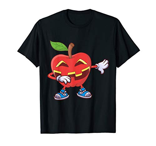 Apfel Halloween Tupfen Apfel-Laterne Jack O Laterne Geschenk T-Shirt