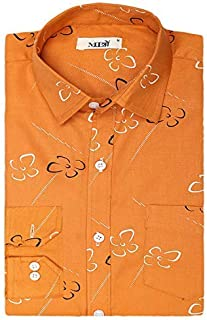 MITRO Shirts for Men to Man Fits Well On Formals Denim Shirts for Mens Casual Fit | Cotton Men's Full Sleeve Printed Casual Shirts