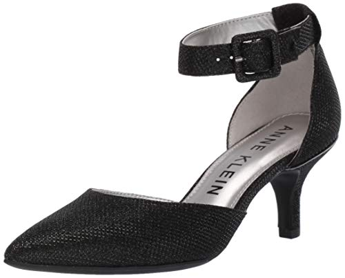 Anne Klein Women's Fabulist Ankle Strap Pump, Black, 5.5 M US