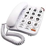 KerLiTar K-P046W Amplified Phones for Seniors with Extra Large Buttons Telephones Landline Corded Phones for Elderly with Loud Speakerphone SOS Emergency Speed Dial Wall Phones