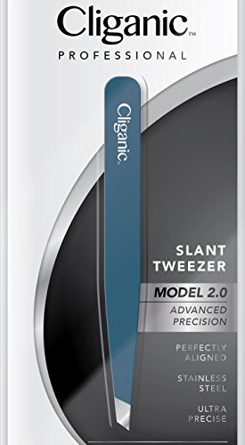 Cliganic Professional Eyebrow Tweezers Slant Tip | Precision Hair Tweezer...