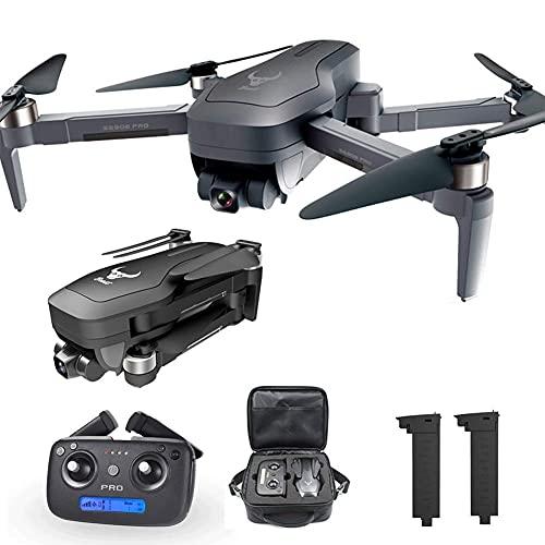 WYZXR Cuadricóptero RC Plegable con cardán de 2 Ejes, dron GPS para Adultos, 4K HD con cámara FPV, Motor sin escobillas, Distancia de Control Remoto de 1200 m, 1 batería Adicional y Bolsa de almace