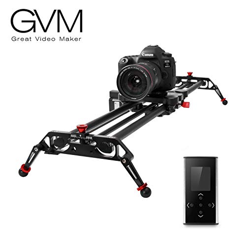 GVM Camera Motorized Slider, 51' /120CM, Automatic Round Trip, Time Lapse, Panoramic Shooting, Video Capture, Consistent Speed, Slider Smooth and Stable, with Battery