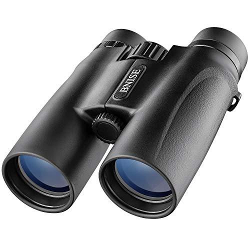 Prismáticos Profesionales, Binoculares Compactos 10X42 para Adultos, Alta Potencia HD BAK4 Prisma de Techo, Portátil de Largo Alcance para observación de Aves, Caza,Ópera, Viajera, Conciertos