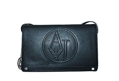 ARMANI JEANS Borsa Tracolla Donna Ecopelle Logo Nero 0529M R1