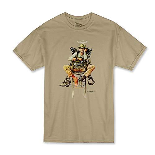 Terence Hill T-Shirt - Nobody Stuhl - Mein Name ist Nobody (Sand) Renato Casaro Edition (XXL)