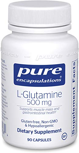 Pure Encapsulations l-Glutamine 500 mg | Supplement for Immune and Digestive Support, Gut Health and Lining Repair, Metabolism Boost, and Muscle Support* | 90 Capsules