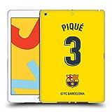 Head Case Designs Oficial FC Barcelona Gerard Piqué 2019/20 Jugadores Away Kit Grupo 1 Carcasa de Gel de Silicona Compatible con Apple iPad 10.2 (2019)/(2020)