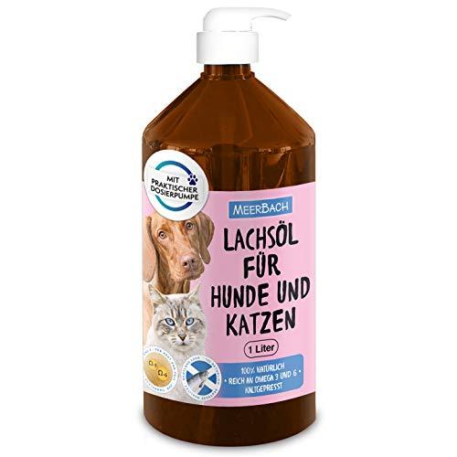 1 Liter Lachsöl für Tiere in Premiumqualität• 100% reines Lachsöl für Hunde, Katzen und Pferde • Nahrungsergänzungsmittel zum Barfen für Hunde • 100% natürlich