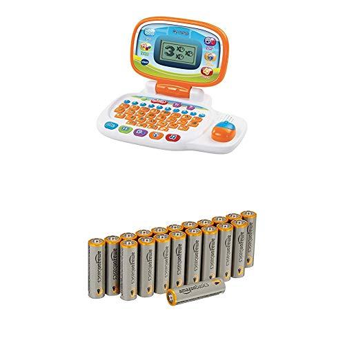 VTech Pre-School My Laptop - White/Orange with Amazon Basics Batteries