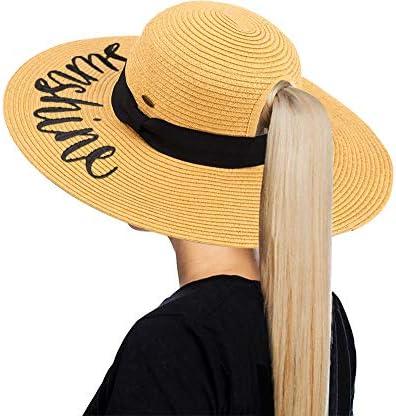 Messy Bun Sun Hat Hello Sunshine product image