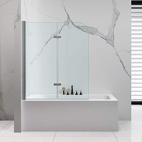 VILSTEIN Mampara de ducha de 120 x 140 cm, accesorio para bañera...
