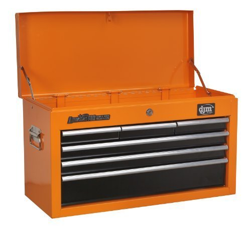 DJM Direct DJMAP2201BBO Caja de herramientas con 6 cajones, Naranja y negro, 6D...