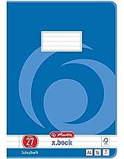 Herlitz 3322708 - Cuaderno (A4, a rayas, con margen interior y exterior, diseño 27, 16 páginas, 10 unidades)