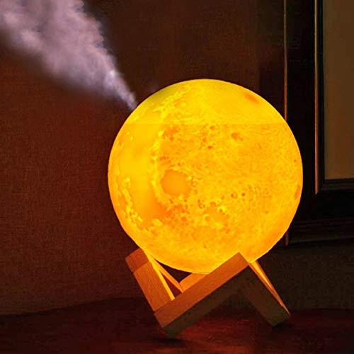 加湿器 テーブルライト 間接照明 ライト 月 ルームランプ インテリア ナイトライト 無段階 調光 USB 充電 LED プレゼント あかり 卓上 S&E (充電機能なし)