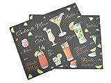 Tovaglietta Americana cm 33x45 Pub Cocktails set 2 tovagliette colazione