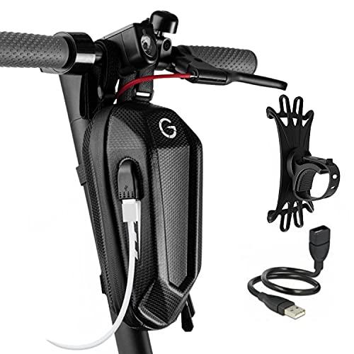 E Scooter Tasche lenker USB 2L 3L e roller tasche für e scooter E-Scooter Tasche für roller lenkertasche escooter zubehör e scooter lenkertasche Aufbewahrung Lenker Elektroroller (S 2 Liter)