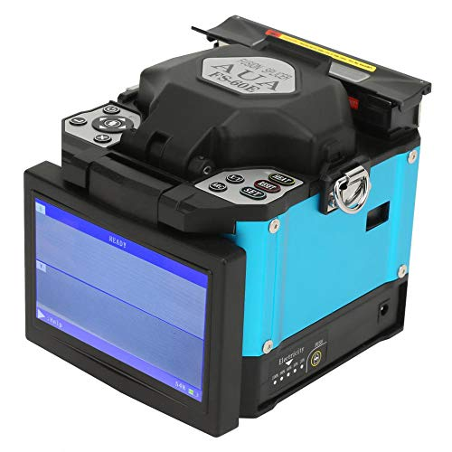 Fusionadora Empalmador automático inteligente de fibra óptica de fusión Máquina de empalme de fusión digital LCD de 5.0 pulgadas Kit de cuchilla de fibra(Enchufe de la UE de 100-240 V)