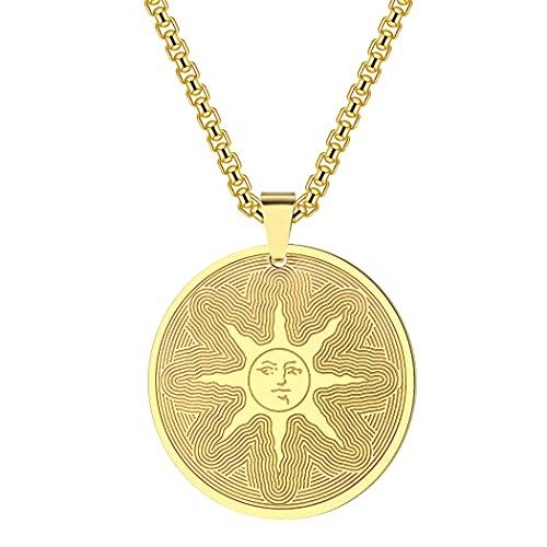 Guerrier de la lumière du soleil collier femmes hommes, chaîne pendentif Dark Souls, Solaire of Astora soleil charme amulette Talisman bijoux cadeau