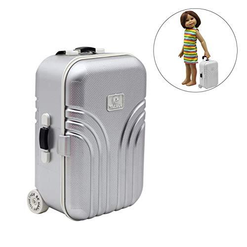 Luerme Ensemble de voyage valise jouet 18 pouces poupée Carry On Bagages avec accessoires de voyage Parfait pour 18 pouces fille poupées