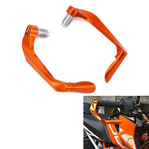 3D CNC Orange Bremshebel Schutz Handguards Aluminium 2,2 cm Universal Lenkerschutz für die meisten Sport Street Motocross Dirt Pit Bike EXC EXCF SX MXC MX XC XCW XCF Enduro