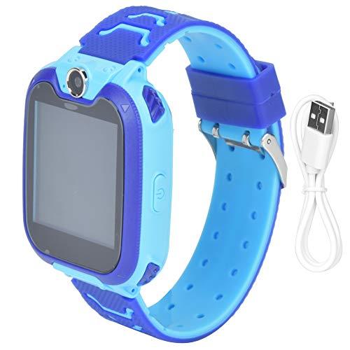 Redxiao Kameraspiel und Musikfunktion SIM-Karte Zwei-Wege-Anruf Kinder Telefonuhr, Kinderuhr, 32G für Jungen Mädchen Kinder(Blue)