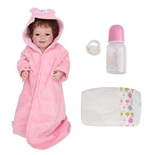 HONG111 Boneca bebê Reborn, 55 cm, boneca bebê realista de silicone macio, fofa, realista, feita à mão, para o corpo inteiro, o melhor conjunto de aniversário para meninas/meninos/mulheres