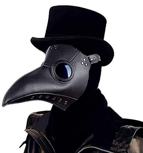 Colording Pest Maske Doktor Cosplay, Halloween Maske, Plague Doctor Mask Retro Felsen Party Masken Steampunk Vogelschnabelmaske Halloween Kostüm Dekoration für Erwachsene Halloween Party
