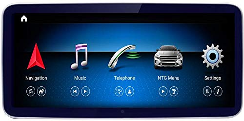 10,25 inch Qualcomm Android 10 Car Touch Screen voor Mercedes Benz C CLK Klasse W204 2008 tot 2010, Gebouwd in Carplay 4GB RAM 1920x720 Resolutie Blu-ray Screen GPS Car Stereo Radio Multimedia Play