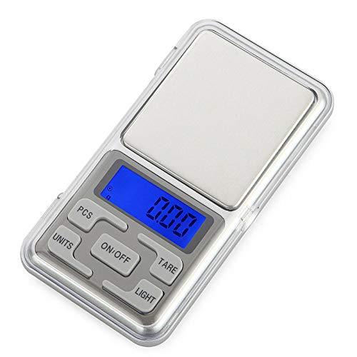 Báscula de joyería recargable 0.1g Aparato de pesaje Balanza portátil Mini báscula electrónica 0.01g Báscula de bolsillo de precisión Báscula de mano Recargable 500g / 0.01g