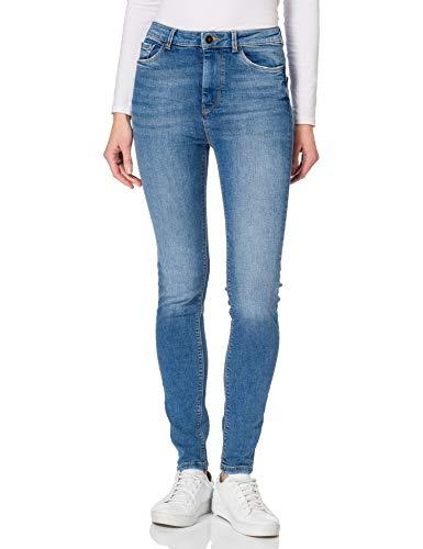 Springfield Jeans Sculpt High Rise Pantalones, Azul Medio, 36