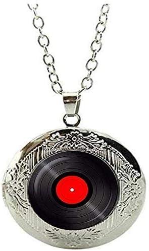 Vinyl Record Jewelry Gramophone Record Locket Necklace Vinyl Records Albums Art Picture Jewelry