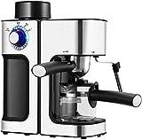 YINGGEXU Máquina de café de la máquina de café, cafetera eléctrica de 0.24L 5 tazas/máquina de café comercial, espumador de leche instantáneo, cafetera de lujo, máquina de café eléctrica automática