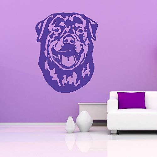 Geiqianjiumai Wand Applique Vinyl wandaufkleber Dekoration Wohnzimmer Wand wanddekoration Hund tapete lila 44X57 cm